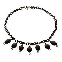 Sterling Silver Foundation Onyx Necklace (U.S.A.)