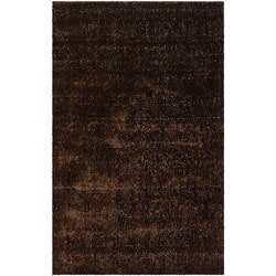 Handwoven Mandara Brown Shag Area Rug (8' x 10')