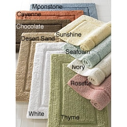 Turkish European Hand-woven Premier Medium 21 in. x 34 in. Bath Rug