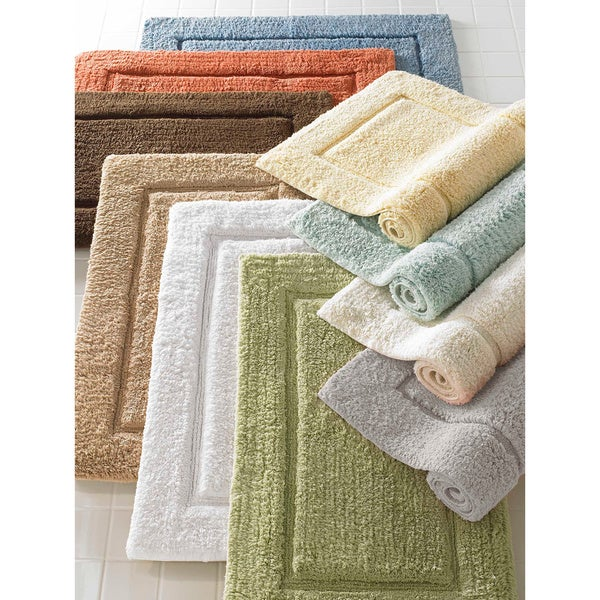Cotton Hand Woven Premier Large 24 X 40 Bath Mat