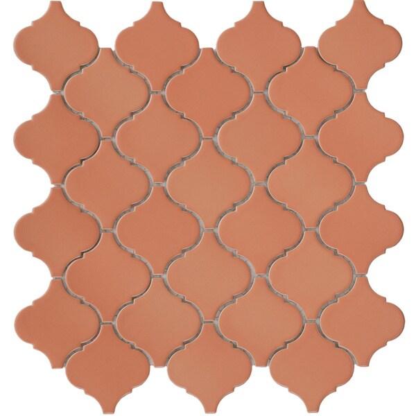 SomerTile 12.5x12.5-in Morocco Terra Cotta Porcelain Mosaic Tile (Pack of 10)