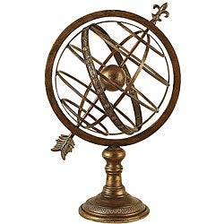 Engraved Metal Armillary Nautical Sphere Globe