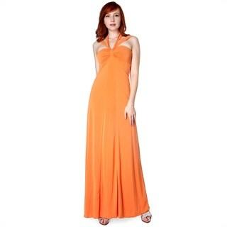 Evanese Women's Cross Tie Halter Dress