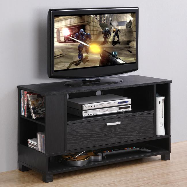 Black Wood TV Stand / Gaming Console