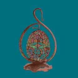 Tiffany-style Bronze Finish Table Lamp