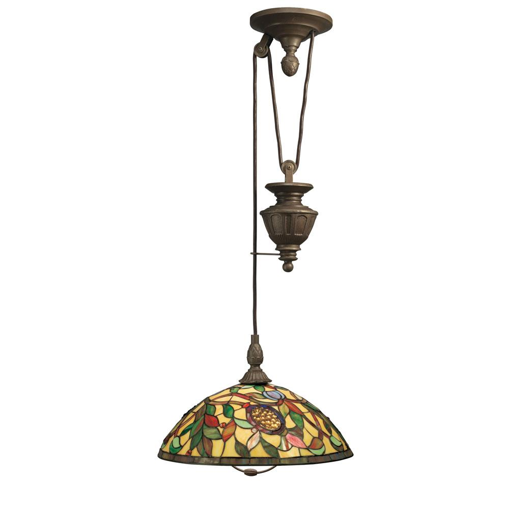 Tiffany-style Pull-down Light Fixture
