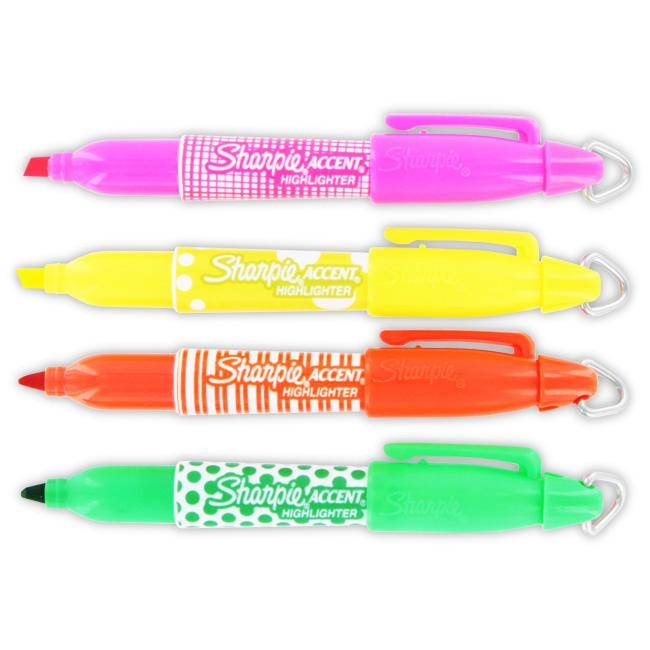 Sharpie Accent Assorted Mini Fashion Highlighters (Pack of 12)