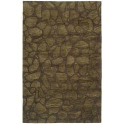 Handmade Soho Pebbles Brown New Zealand Wool Rug (7'6 x 9'6)