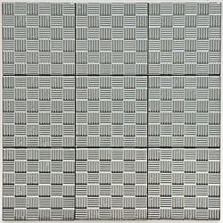SomerTile 4x4-in Mercury Metal Napkin Porcelain D�cor Tile (Pack of 9)
