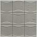 SomerTile 4x4-in Mercury Metal Wave Porcelain D�cor Tile (Pack of 9)