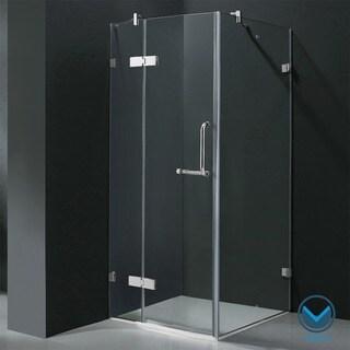 Vigo Frameless Square Clear Shower Enclosure (32 x 32)