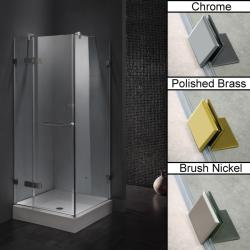 Vigo Frameless Square Clear Shower Enclosure and Base (32 x 32)
