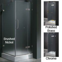 Vigo Frameless Square Frosted Shower Enclosure (32 x 32)