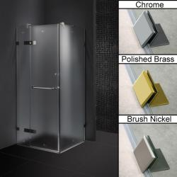 Vigo Frameless Frosted Shower Enclosure (36 x 36)