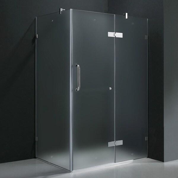 Vigo Frameless Frosted Shower Enclosure (32 x 40)