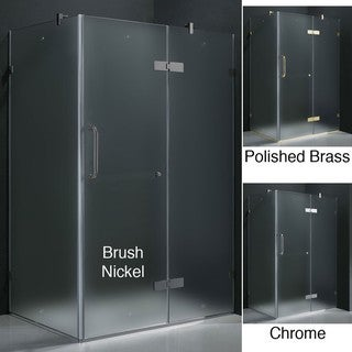 Vigo Frameless Frosted Shower Enclosure (32 x 40)