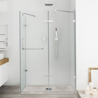 Vigo Frameless Clear Shower Enclosure (32 x 48)