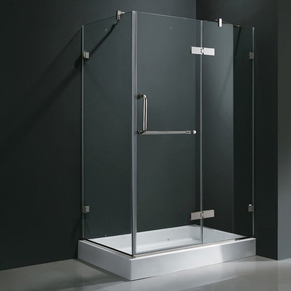 Vigo Frameless Clear Shower Enclosure And Right Base 32 X