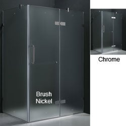 "VIGO 32 x 48 Frameless 3/8"" Frosted Shower Enclosure"