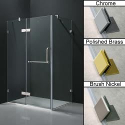 "Vigo Frameless Clear Tempered Glass Shower Enclosure (36"" x 48"")"