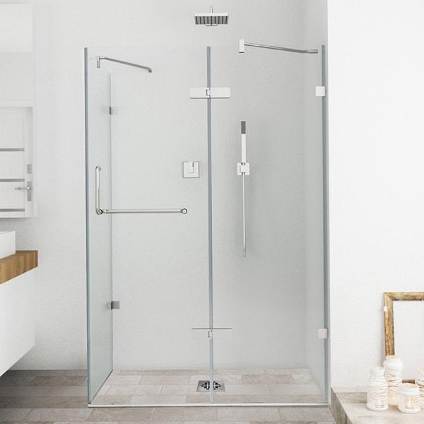 """Vigo Frameless Clear Tempered Glass Shower Enclosure (36"""" x 48"""")"""