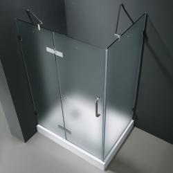 Vigo Frameless Frosted Glass Shower Enclosure with Left Door & Base (36 x 48)