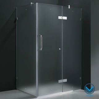 Vigo Frameless Frosted Glass Shower Enclosure (36 x 48)