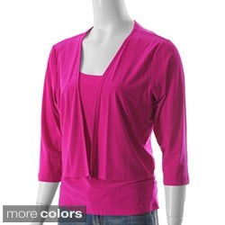 S Max by Adi Designs Women's Solid Top Set