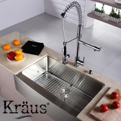 Kraus Chrome-Plated Stainless-Steel Kitchen-Sink Bottom Grid