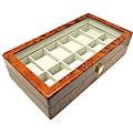 Heiden Burlwood 12 Watch Storage Box