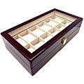 Heiden Cherry Wood 12 Watch Storage Box