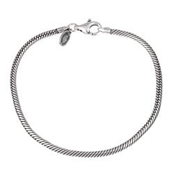 Sterling Essentials Sterling Silver 7.75 Inch Bead Charm Bracelet (3 mm)