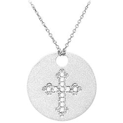 Sterling Silver Diamond Accent Gothic Cross Necklace