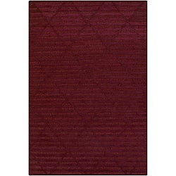 Hand-tufted Mandara Red New Zealand Wool Rug (6'6 x