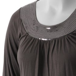 Everyday Brand Women's Plus Size Sequined Tunic