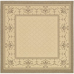 Indoor/ Outdoor Royal Natural/ Brown Rug (6'7 Square)