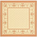 Safavieh Indoor/ Outdoor Royal Natural/ Terracotta Rug (7'10 Square)