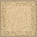 Safavieh Indoor/ Outdoor Oasis Natural/ Brown Rug (7'10 Square)