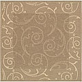 Indoor/ Outdoor Oasis Brown/ Natural Rug (6'7 Square)
