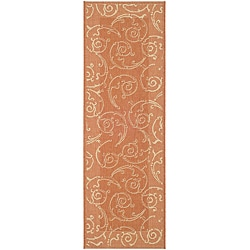 Indoor/ Outdoor Oasis Terracotta/ Natural Runner (2'4 x 6'7)