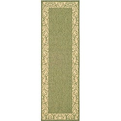 Safavieh Indoor/ Outdoor Kaii Olive/ Natural Runner (2'4 x 6'7)