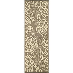 Indoor/ Outdoor Andros Brown/ Natural Runner (2'4 x 6'7)