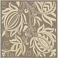 Indoor/ Outdoor Andros Brown/ Natural Rug (7'10 Square)