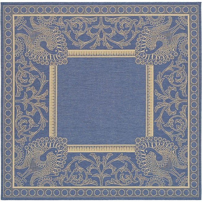Safavieh Indoor Outdoor Abaco Blue Natural Rug 7 10