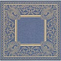 Indoor/ Outdoor Abaco Blue/ Natural Rug (7'10 Square)