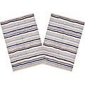 Set of 2 Ziggy Blue Cotton Rugs (2'6 x 4'2)