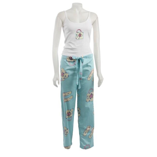Aegean Apparel Women's Purse and Flip Flop Printed Pajama Set at Sears.com