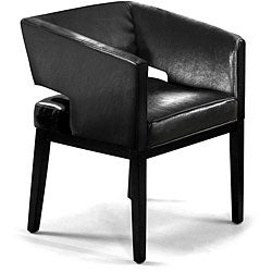 Bicast Apollo Black Leather Club Chair
