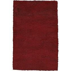 Hand-woven Tigris Burgundy New Zealand Wool Rug (8' x 10'6)