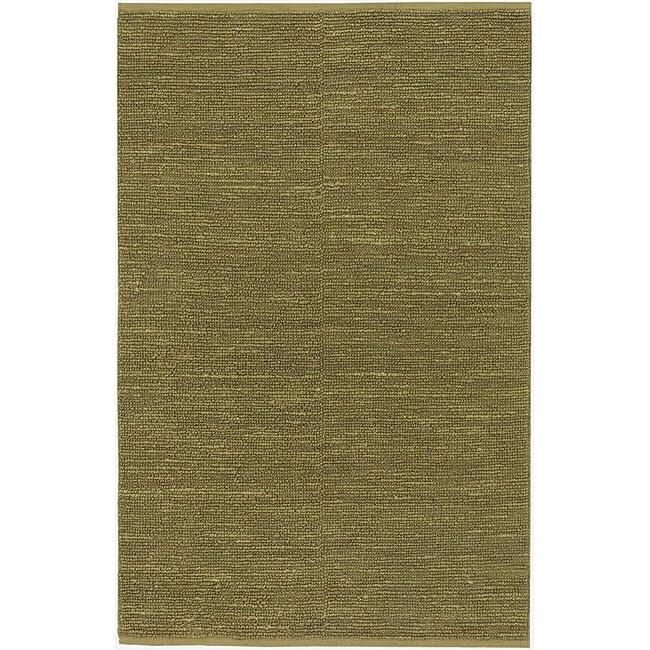 Hand-woven Hilo Lime Green Natural Fiber Jute Rug (9' x 13')
